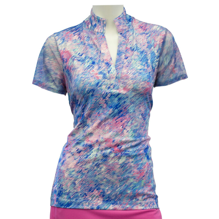 EP Pro Short Sleeve Monet Spray Floral Print Polo