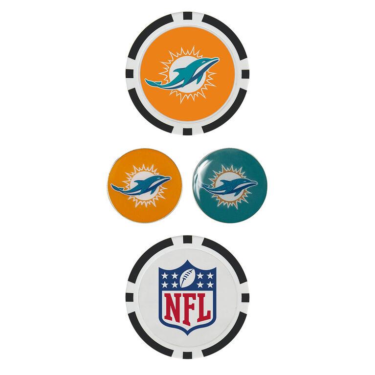 Team Effort Miami Dolphins Ball Marker Set