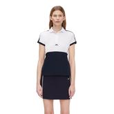 Camille Short Sleeve Color Block Golf Polo