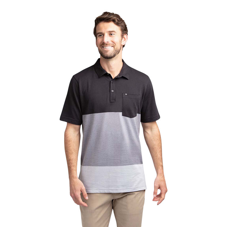 Caddy Daddy Colorblock Stripe Pocket Polo