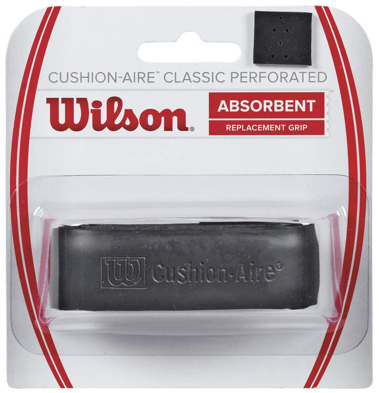 Wilson Cushion-Aire Classic Perforated Replacement Grip - Black