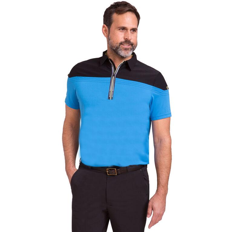Short Sleeve Contrast Shoulder Polo