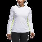 Micro Mock Long Sleeve Striped Base Layer Shirt