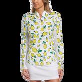 Summer Lemon Collection: Lemon Print 1/4 Zip Pull Over