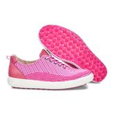 ECCO Casual Hybrid Knit Women's Golf Shoe - Pink