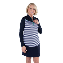 Appletini Collection:Long Sleeve Stripe Polo Shirt