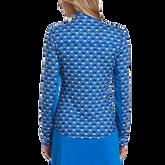 Alternate View 1 of Blue Geo Collection: Geo Print Long Sleeve 1/4 Zip Golf Shirt