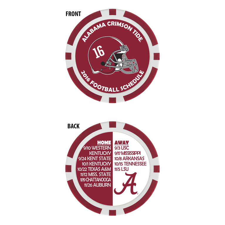 Team Effort Alabama Football Schedule Ball Marker