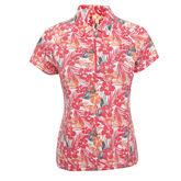 Outside The Lines: Flora Short Sleeve Polo