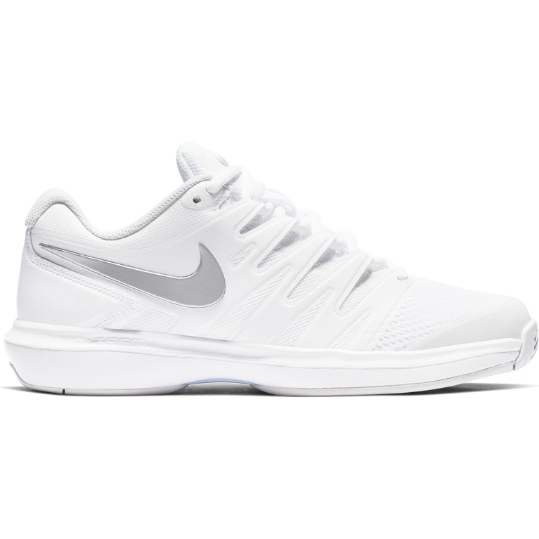 Air Zoom Prestige Women's Tennis Shoe - White/Silver
