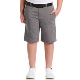 Boys' Flat Front Heather Golf Short with Active Waistband