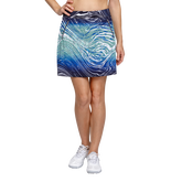 Palm Springs Collection: Darby Water Print Straight Pull On Skort