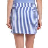 Sydney Elizabeth Blue and White Striped Skort