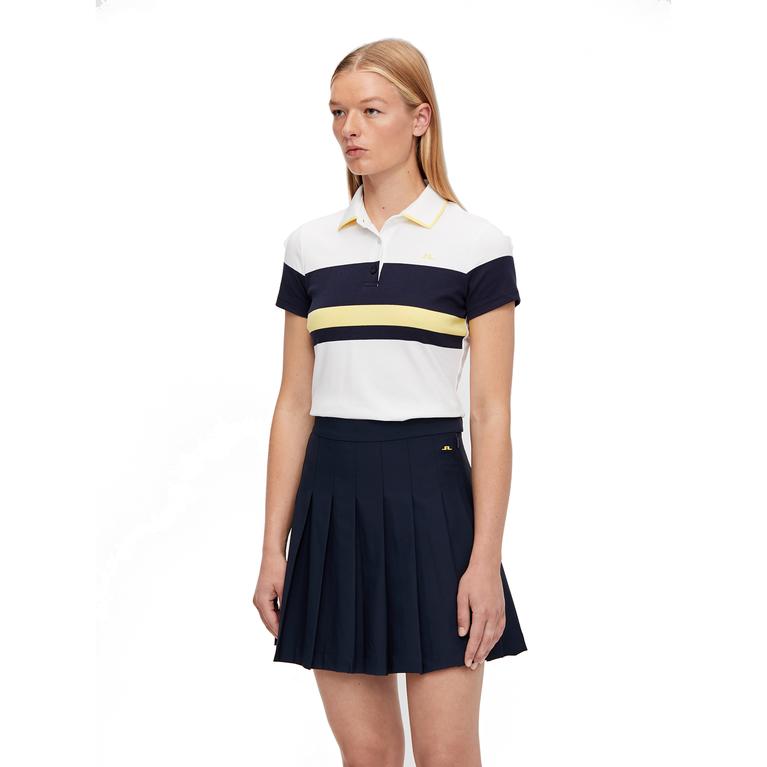 Jade Short Sleeve Striped Polo Shirt