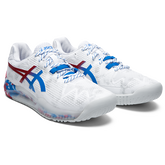 Alternate View 3 of GEL RESOLUTION 8 LE TOKYO Men's Tennis Shoes - White/Red