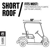 Alternate View 5 of Classic Cart Accessories Fairway Deluxe Golf Car Enclosure - Short Roof