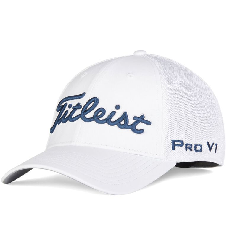 Tour Sports Mesh White Collection Hat