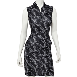 Sleeveless Spiral Print Dress