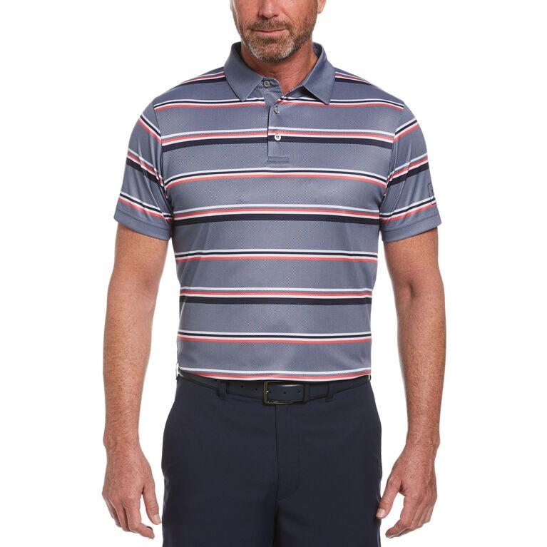 Allover Stripe Short Sleeve Golf Polo Shirt