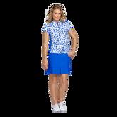 Palm Springs Collection: Cheetah Print Short Sleeve Mock Neck Shirt