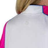 Alternate View 5 of Rojito Collection: Short Sleeve Colorblock Zip Top