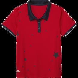 Girls Short Sleeve Start Printed Polo Shirt