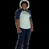 Alternate View 6 of Limonata Collection: Short Sleeve Dot Print Quarter Zip Polo Shirt