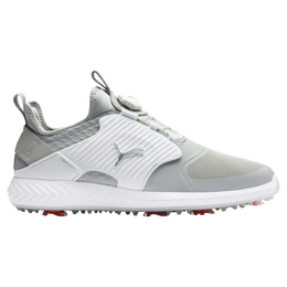 IGNITE PWRADAPT Caged DISC Men's Golf Shoe - Grey/White