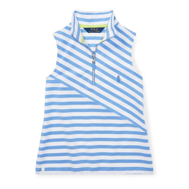 Polo Golf Girls' Striped Sleeveless Mockneck Top