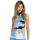 Bali Group: Sleeveless Watercolor Print Top