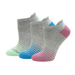 Women's Striped 3-Pack No Show Socks