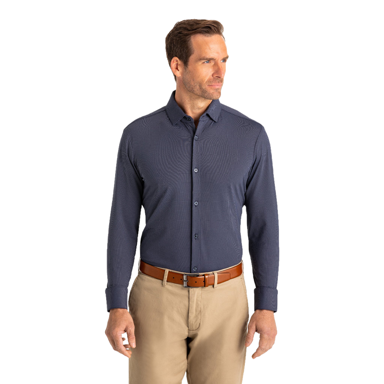 Woolworth Navy Knit Dress Shirt
