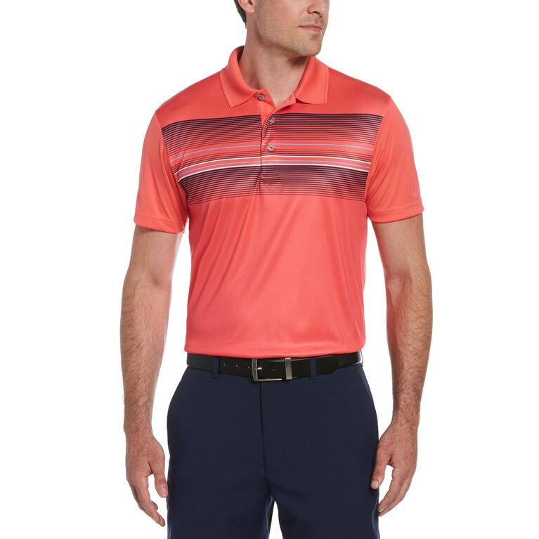 Engineered Leisure Stripe Short Sleeve Golf Polo Shirt