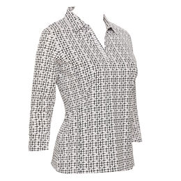 Rockport Group: Alison 3/4 Sleeve Bell Cuff Print Top