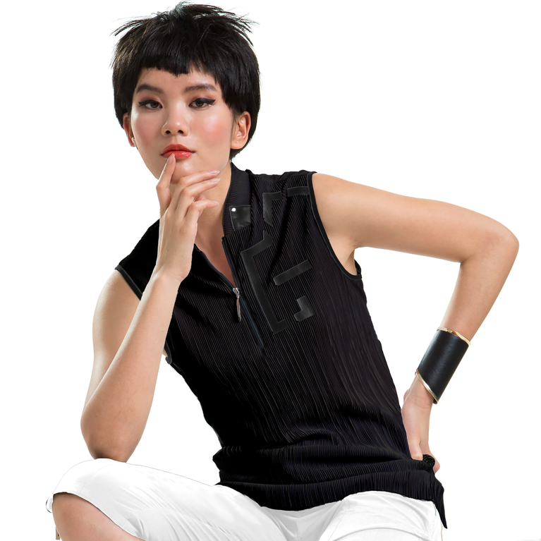Venus Collection: Sleeveless Solid Crunch Top