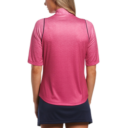 Blue Geo Collection: Gradient Heather 1/2 Sleeve Pull Over
