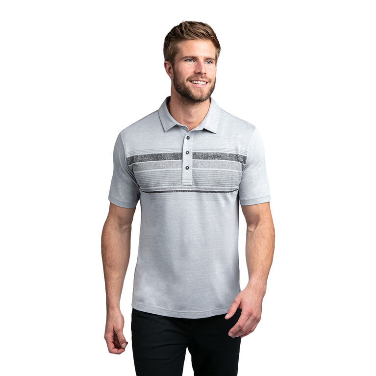 Salty Air Short Sleeve Chest Stripe Polo