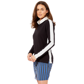Alternate View 2 of Biltmore Collection: Track Stripe Long Sleeve Top