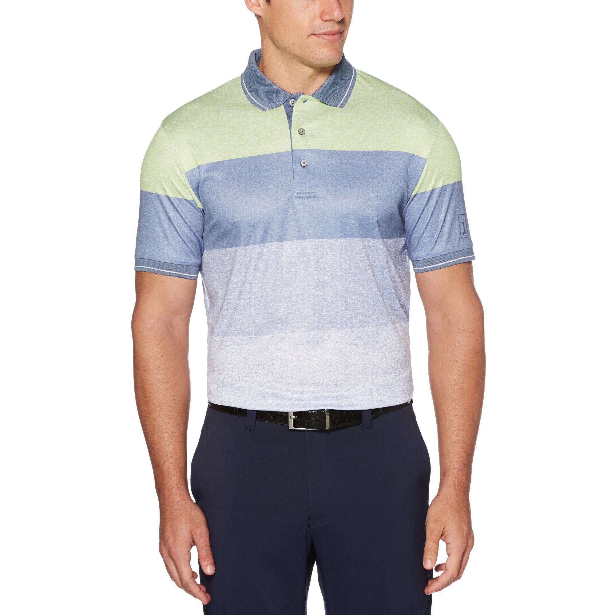PGA TOUR Mens Short Sleeve Heathered Polo Shirt