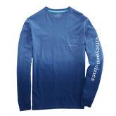 Vineyard Vines Long-Sleeve Dip Dyed Two-Tone Vintage Whale Pocket T-Shirt