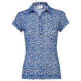 Ultra Group: Bella Blue Mesh Polo Shirt