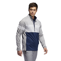 Long Sleeve Quarter Zip Colorblock Competition Sweater