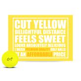Cut Matte Yellow Golf Balls