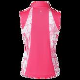 Alternate View 1 of Adelina Sleeveless Inset Printed Polo Shirt
