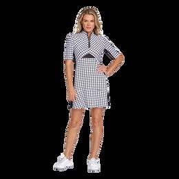 Essentials Rosemarie Balanced Grid 3/4 Sleeve Dress
