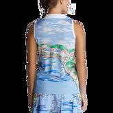 Alternate View 4 of Airflow Graphic Print Sleeveless Polo Shirt