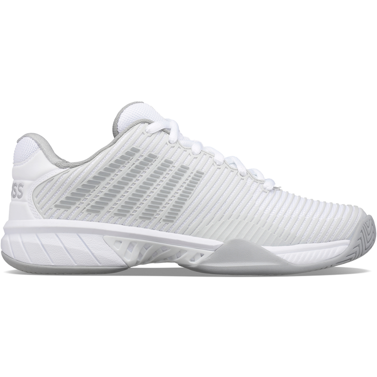 Hypercourt Express 2 Women's Tennis Shoe - White/Grey