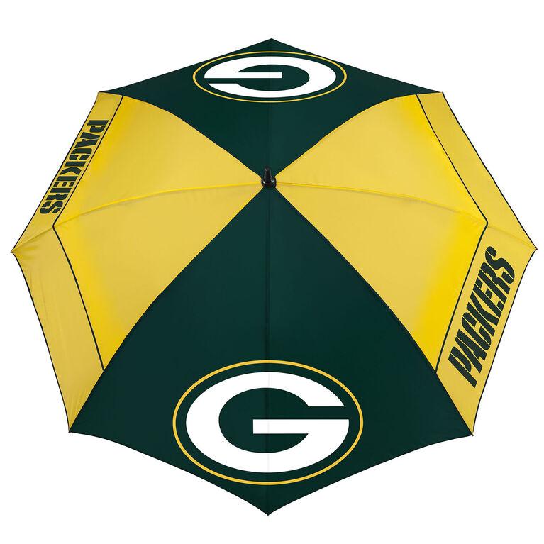 "Team Effort Green Bay Packers 62"" WindSheer Lite Umbrella"