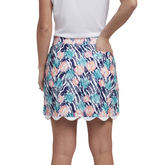 Alternate View 2 of Tropical Collection: Printed Scalloped Edge Skort