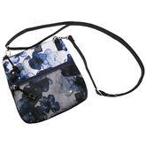 Indigo Poppy Zip Bag